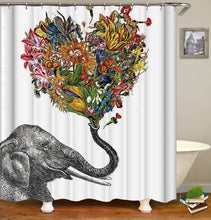 Load image into Gallery viewer, Elephant Shower Curtain