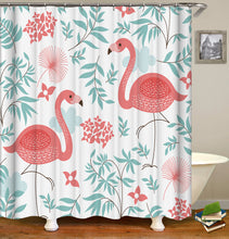 Load image into Gallery viewer, Flamingo Shower Curtain