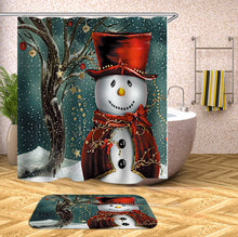 Load image into Gallery viewer, Christmas Decorative Shower Curtain