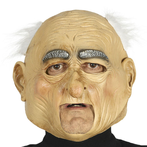 Elderly Mask with Hair