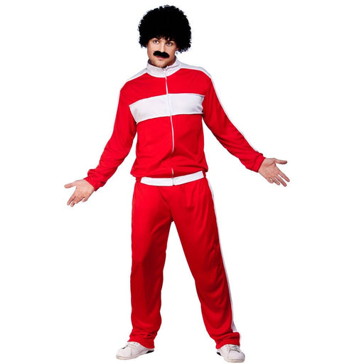 80's Retro Trackie Costume (Red)