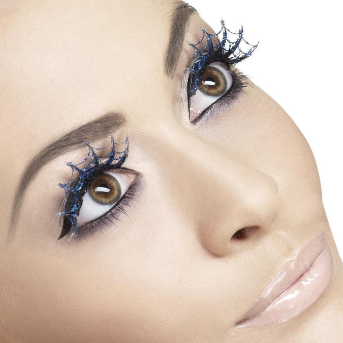 Glitter Spiderweb Eyelashes