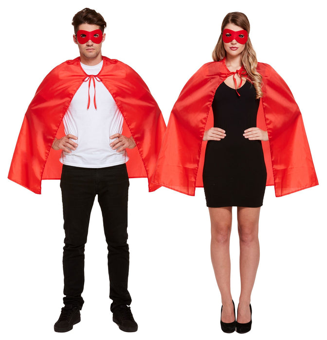 Superhero Cape & Eye Mask (Red)