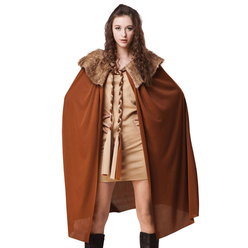 Deluxe Cape with Collar (Brown)