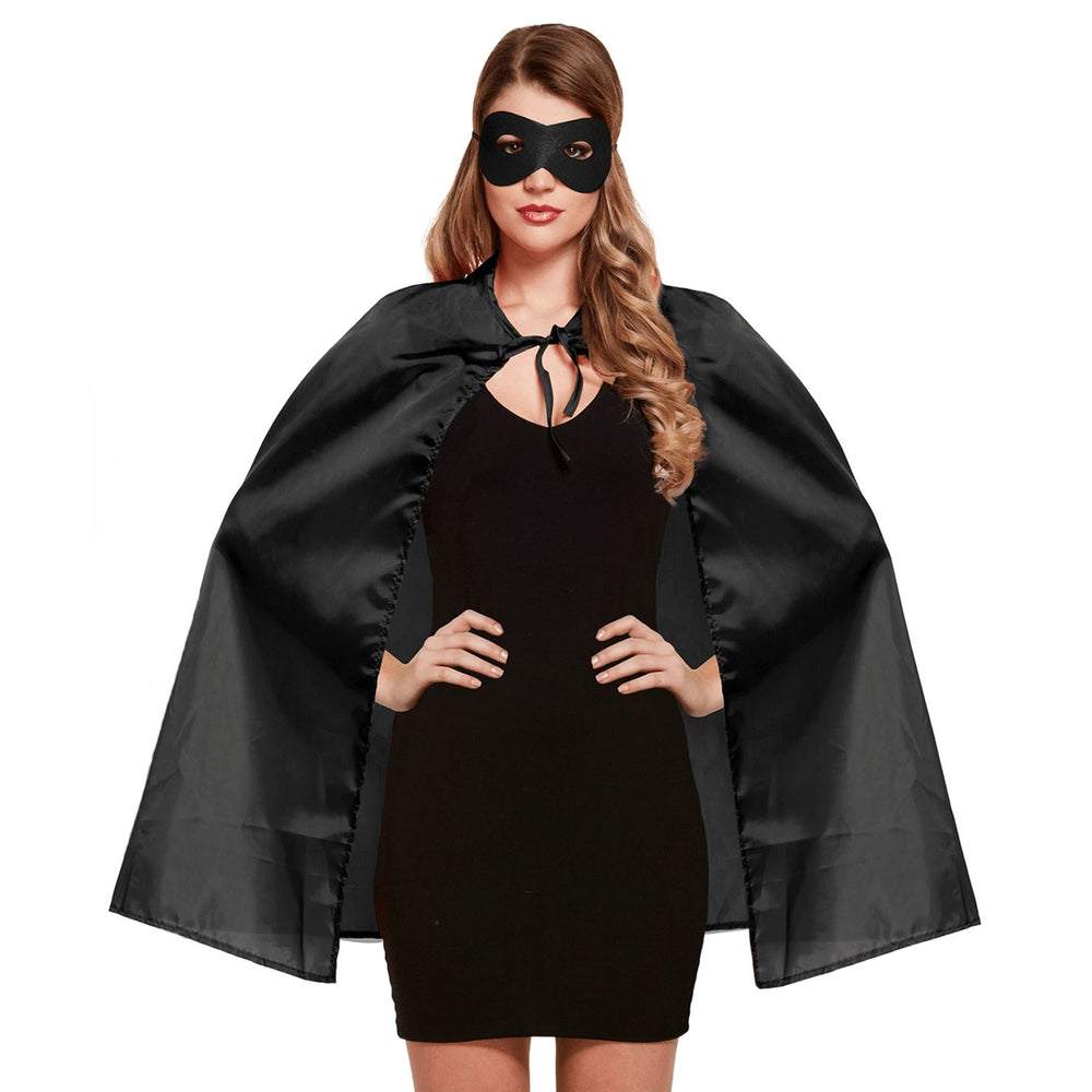 Superhero Cape & Eye Mask (Black)