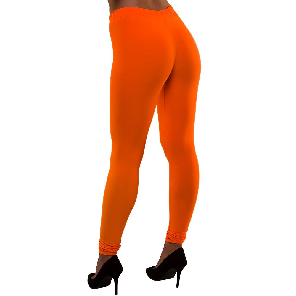 80's Neon Leggings (Orange)