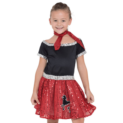 Kids Sequin Rock N Roll Costume (Red)