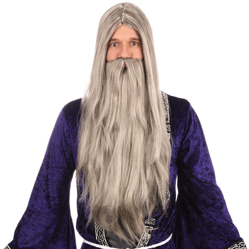 Wizard Wig & Beard (Grey)