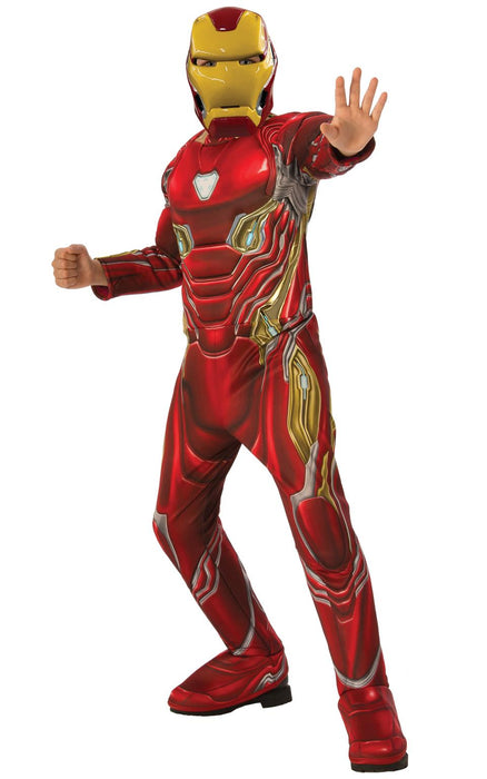 Kids Official Deluxe Iron Man Costume