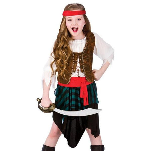 Kids Caribbean Pirate Girl Costume