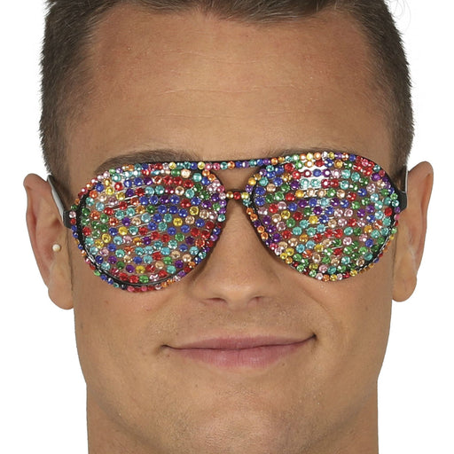 Multicoloured Jewelled Glasses
