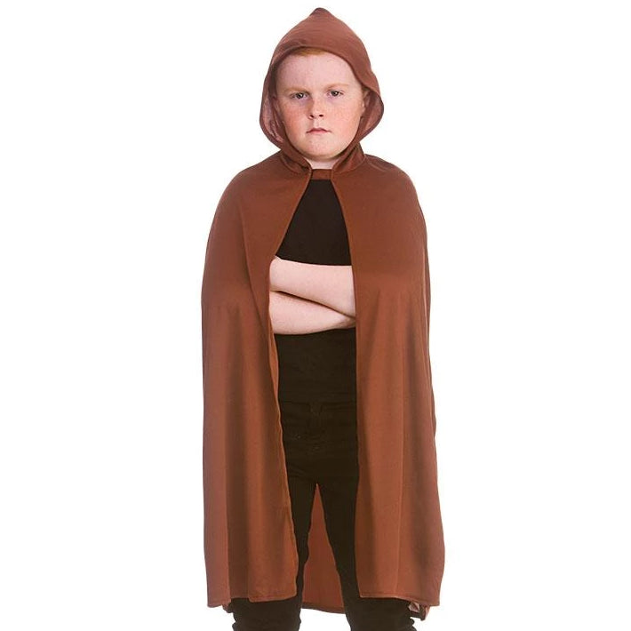 Kids Hooded Cape (Brown)