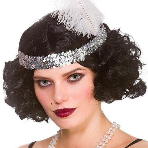 Curly Flapper Wig (Black)