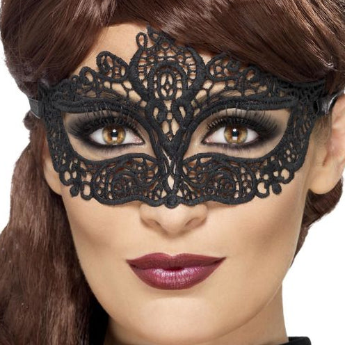 Embroidered Lace Eye Mask - Smiffys