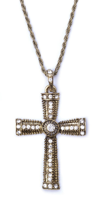 Jewelled Cross Necklace
