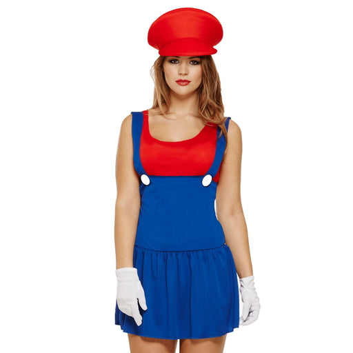 Super Work Woman Costume (Red)