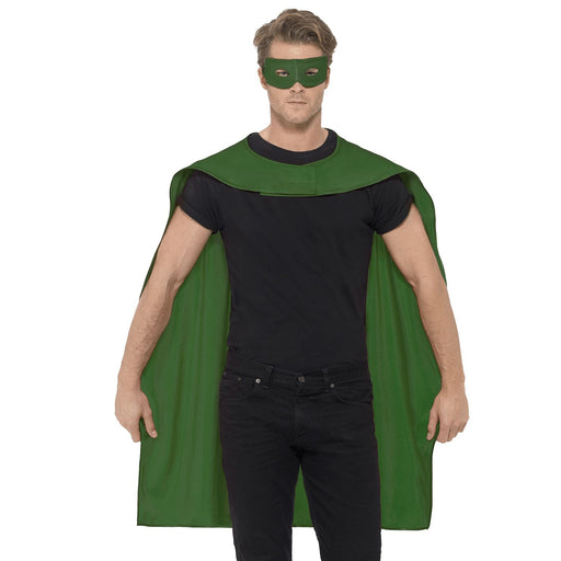Superhero Cape & Eye Mask (Green)