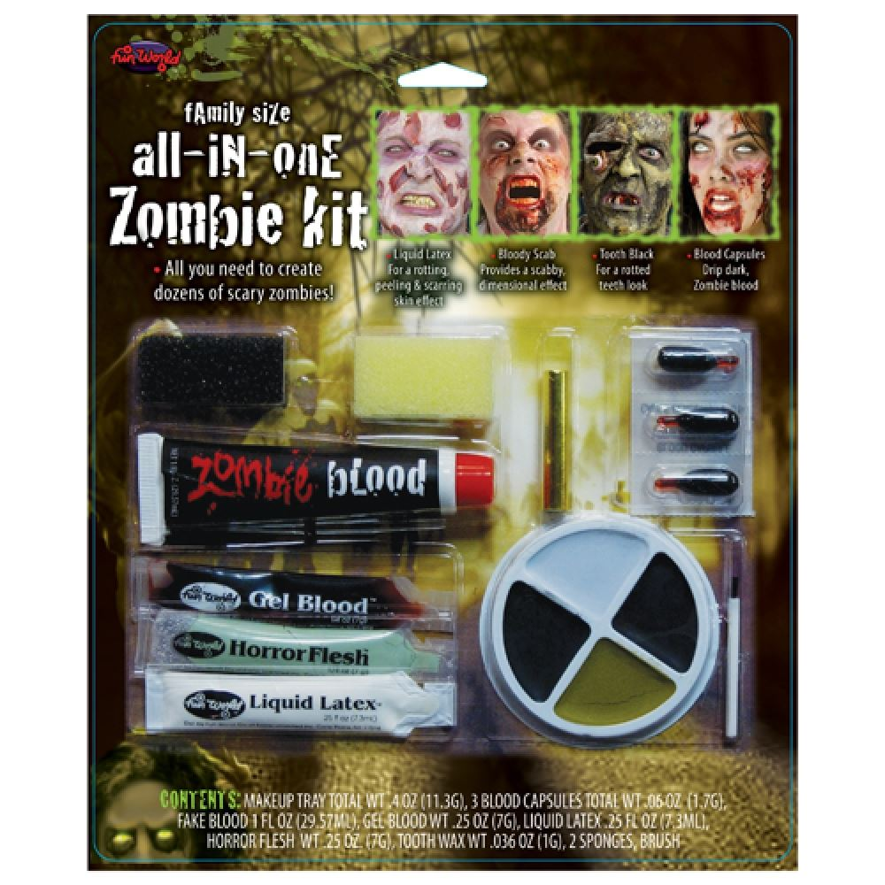 All in One Family Zombie Make Up Kit