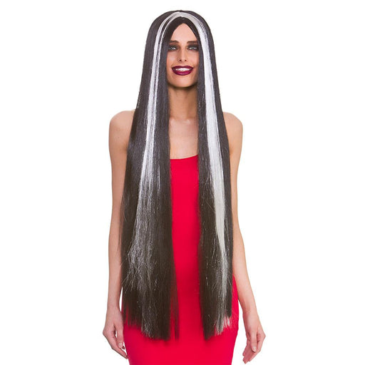 "39"" Classic Long Wig (Black & White)"