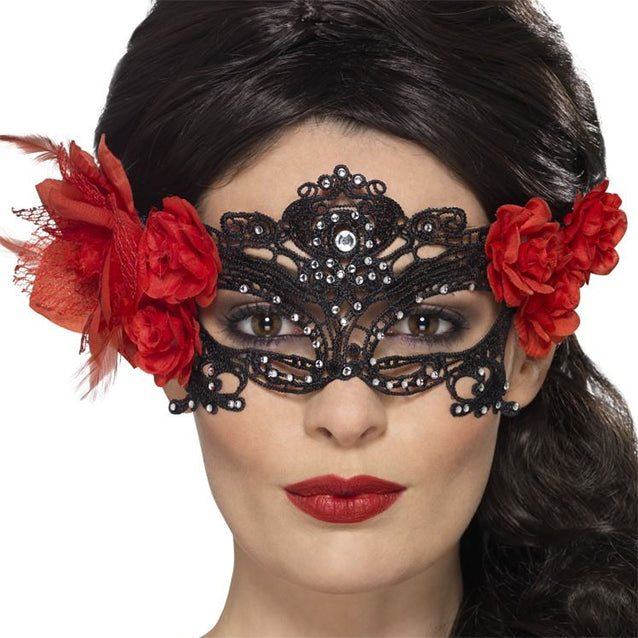 Day of the Dead Lace Eye Mask
