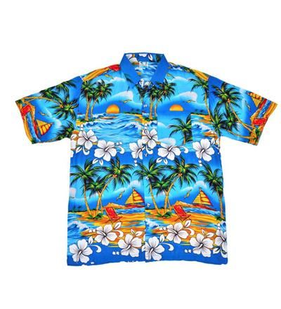 Blue Palm Tree Shirt