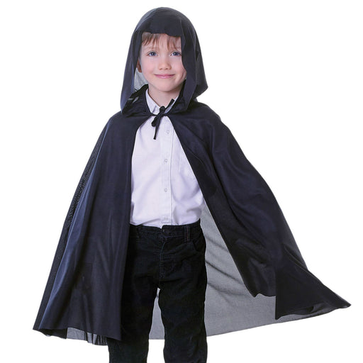 Kids Hooded Cape (Black)