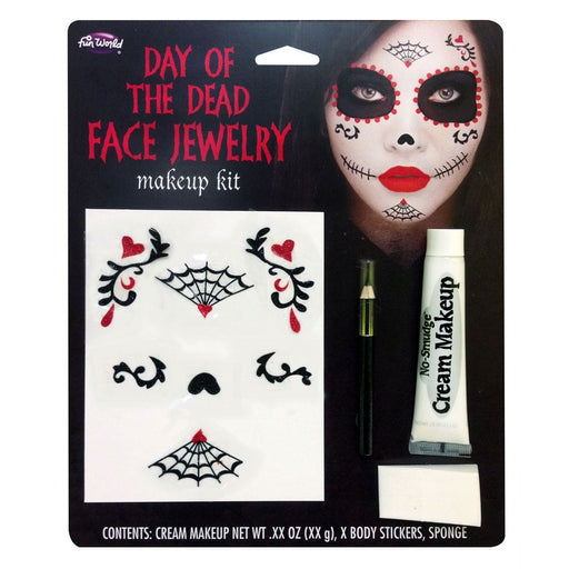 Day of the Dead Face Jewellery Make Up Kit