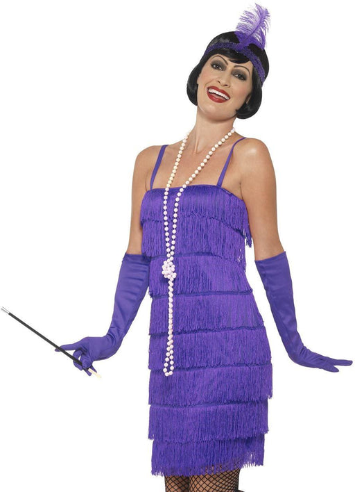 Short Flapper Costume (Purple)