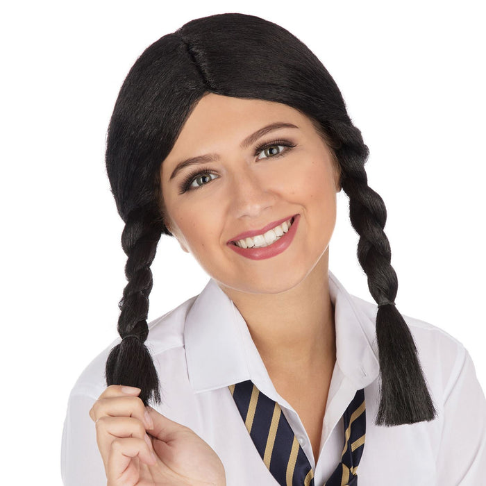 School Girl Wig (Black)