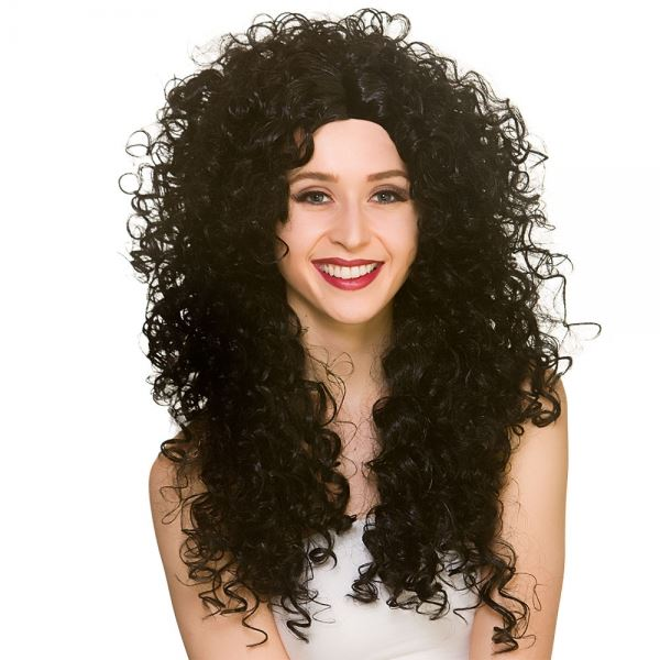 Long Curly Wig (Black)