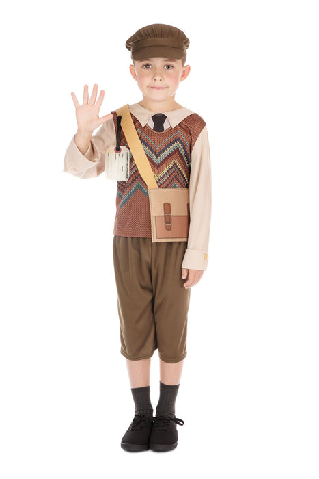 Kids Evacuee School Boy Costume