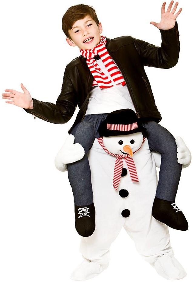 Kids Carry Me Snowman Costume