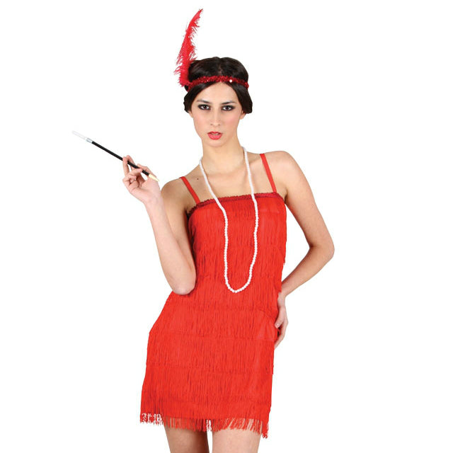Showtime Flapper Costume (Red)