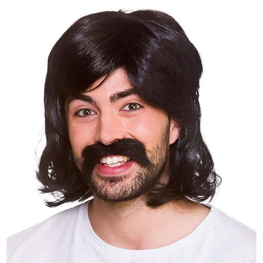 70's Cool Guy Wig Set (Black)
