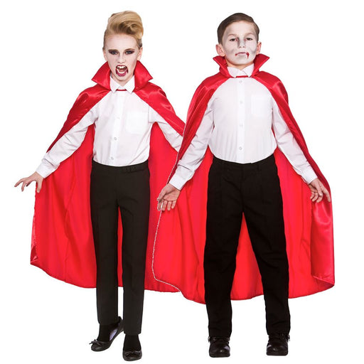 Kids Deluxe Satin Cape (Red)
