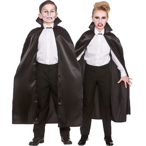 Kids Deluxe Satin Cape (Black)