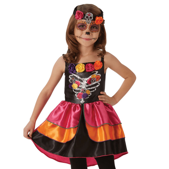 Kids Sugar Skull Costume