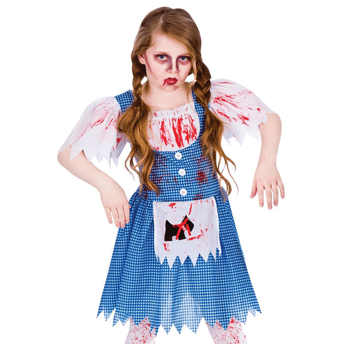 Kids Zombie Country Girl Costume