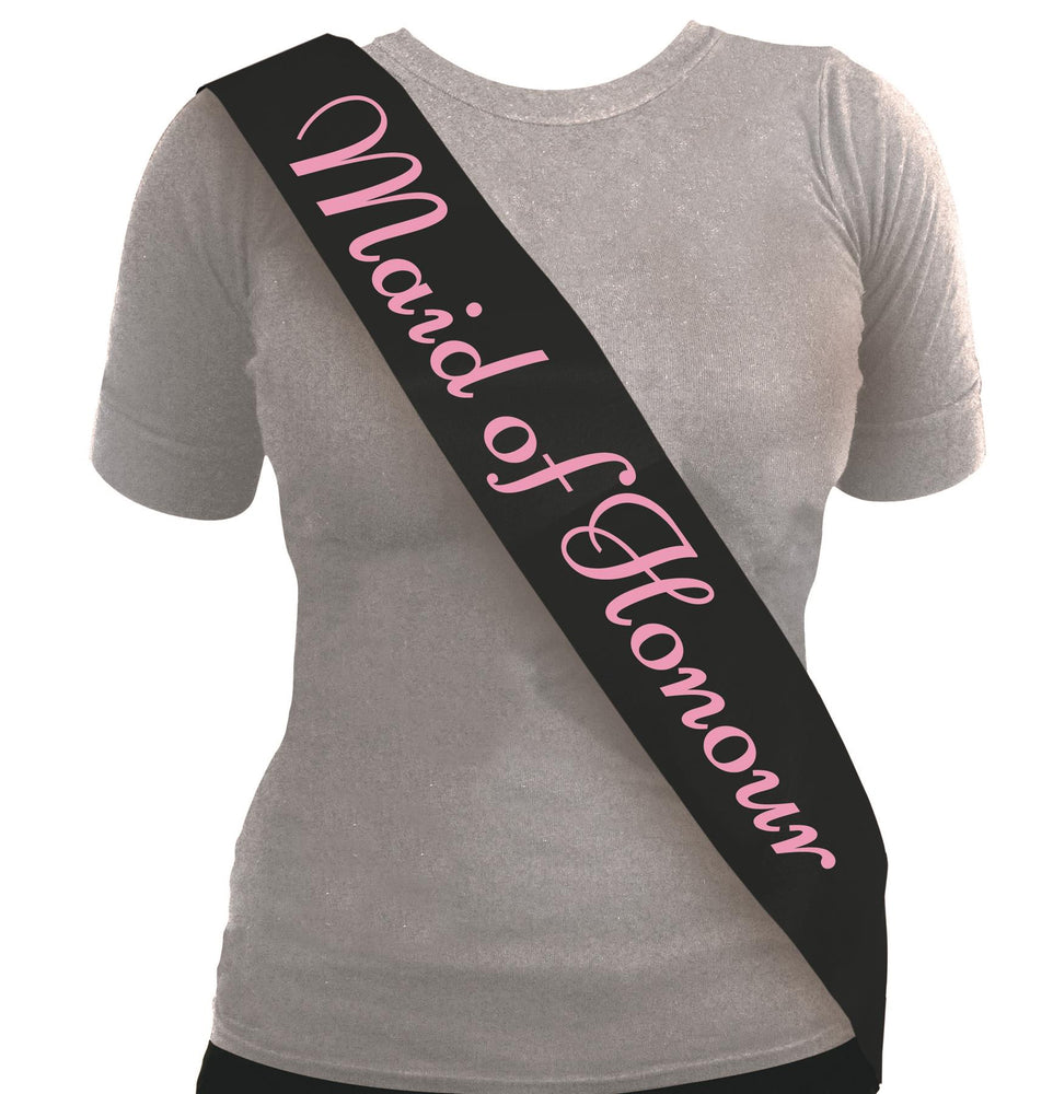 Maid of Honour Sash (Black)