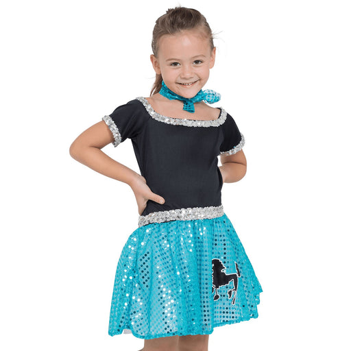 Kids Sequin Rock N Roll Costume (Blue)