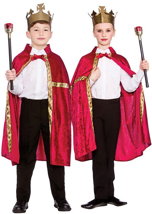 Kids Deluxe Robe & Crown (Red)