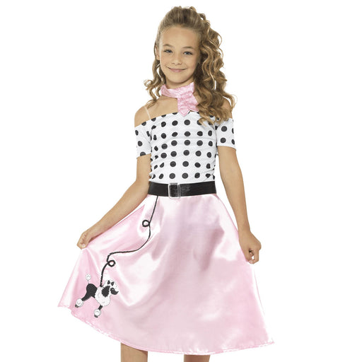 Kids 50's Poodle Girl Costume