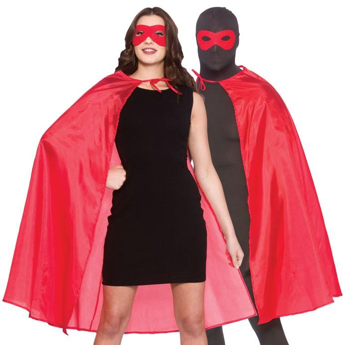 Superhero Cape & Mask (Red)