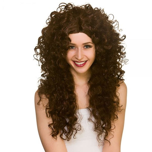 Long Curly Wig (Brown)