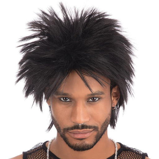 80's Rock Idol Wig (Black)