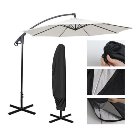 1pc Waterproof Oxford Polyester Outdoor Banana Umbrella Cover Garden Parasol Rain Cover Accessories Black (cover only)