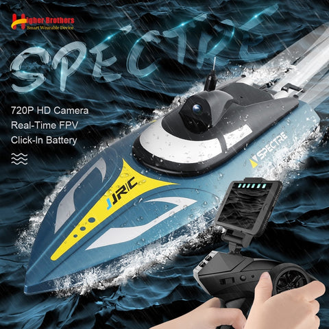 2.4G 25km/h RC Racing Boat 720P HD AR VR Camera WIFI FPV App Remote Control Explore Speedboat Ship Water System Adult Kids Gift
