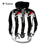 2017 Newest 3D Print Christmas Halloween Skull Theme Pullover Hoodies for Women/men Causal Loose Plus Size Sweatshirts Femme - BuyShipSave