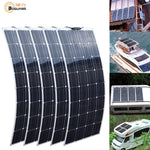 2Pcs 4Pcs 10Pcs 100W solar panel Monocrystalline Solar Cell Flexible for Car/Yacht/Steamship 12V 24 Volt 100 Watt Solar Battery - BuyShipSave
