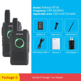2pcs RETEVIS RT618/RT18 PMR Radio Mini Walkie Talkie PMR446 FRS Dual PTT VOX Two-Way Radio Handheld Transceiver Walkie-Talkie - BuyShipSave